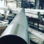 Tubo de acero en fábrica