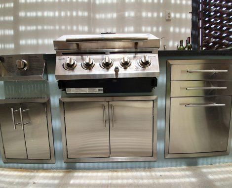 cocina en acero inoxidable