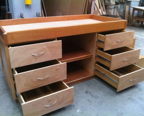 mueble, cajonera en madera