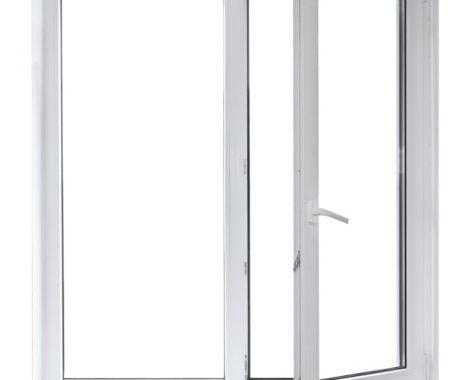 vidriera con puerta batienete